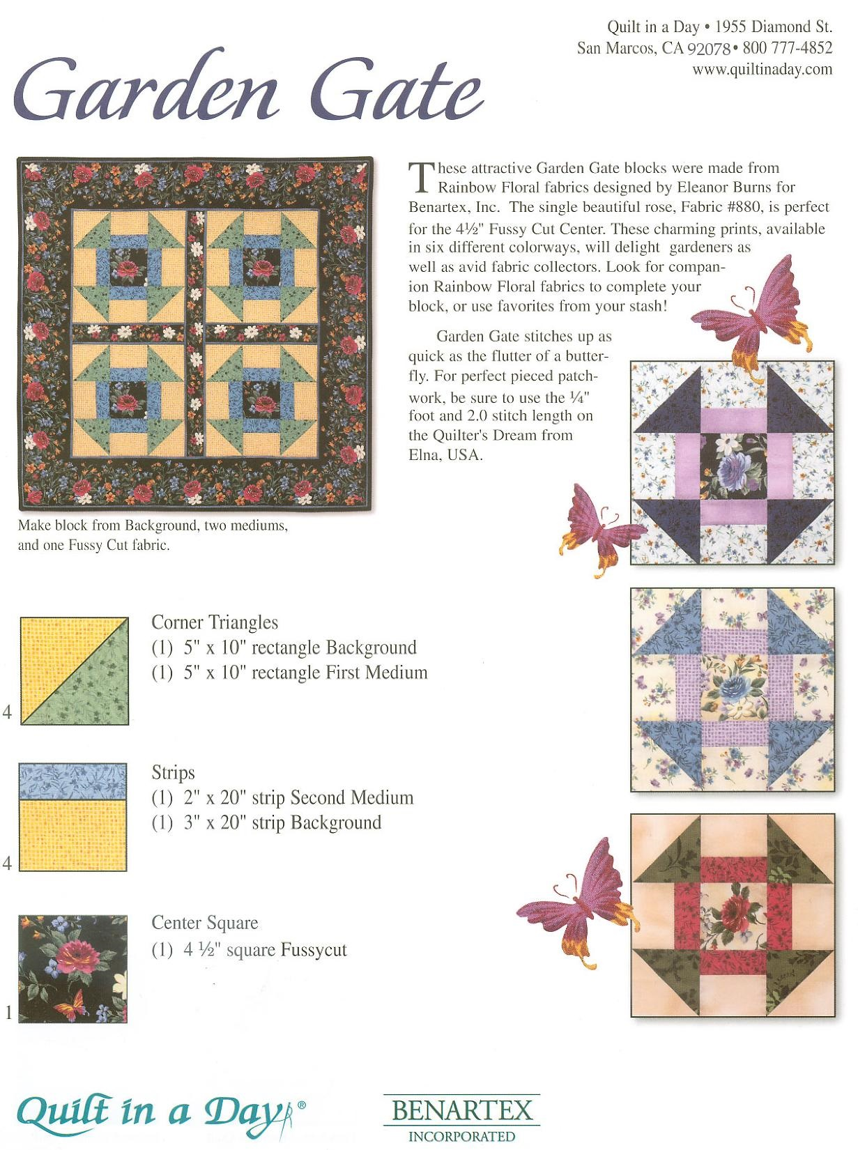 Quilt In A Day Free Quilting Patterns