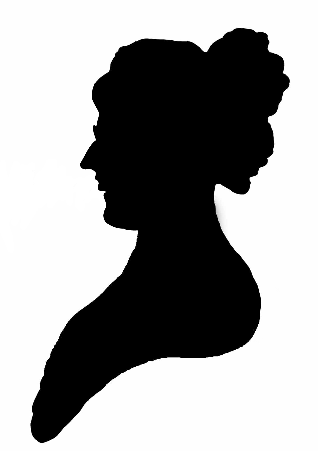 Use this 18th century stylized silhouette of Eleanor on your own ...