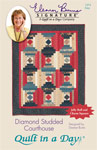 Diamond Studded Courthouse: Eleanor Burns Signature Quilt Patterns 735272012740