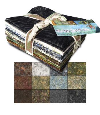 Island Batik Twelve Fat Quarter Bundle - Nature