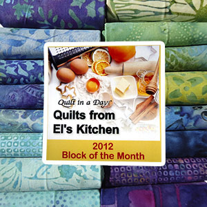 El's Kitchen BOM Batik Fat Quarter Pack