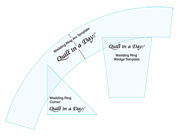 wedding ring template set by quilt in a day 735272020134