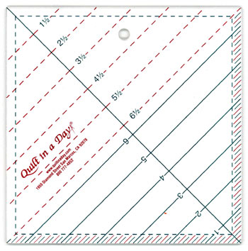 6 1 2 Triangle Square Up Ruler By Quilt In A Day