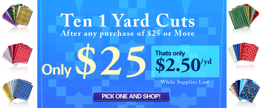 Ten 1 Yard Cuts $25