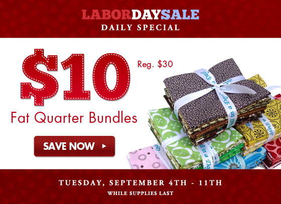 Fat Quarter Bundles only $10